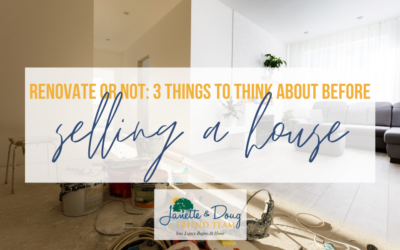 Renovate or Not: 3 things to think about before selling a house